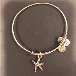 Alex & Ani Starfish charm bracelet